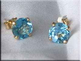 topaz earrings from DK Gems