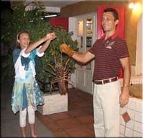 Amaury and a fresh lobster