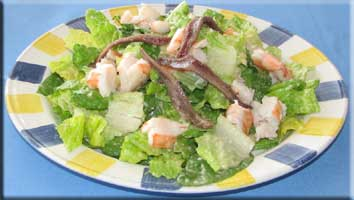 Shrimp and anchovy salad