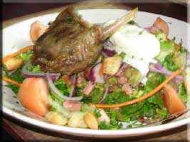 Confit of duck salad