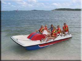 Paddleboat at Galion Beach