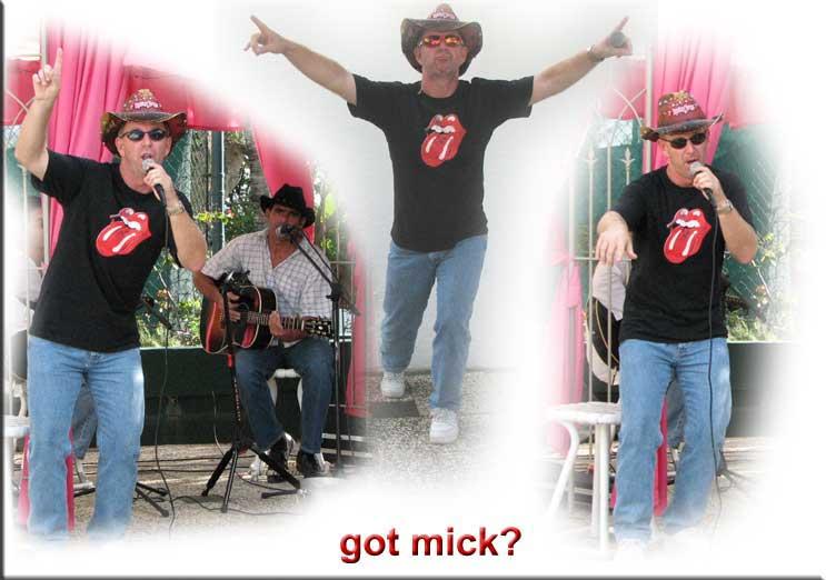 Bob as Mick Jagger