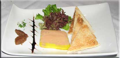 foie gras with a fig compote