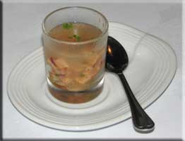 Marinated salmon amuse bouche