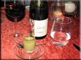 Fennel soup and Gigondas