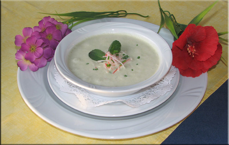 Lowlands Recipes Cucumber Vichyssoise With Crabmeat And Mint