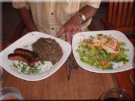 sausage with lentils